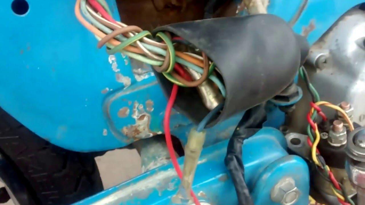 rewiring a 1970 c70 honda motorcycle [ 1280 x 720 Pixel ]