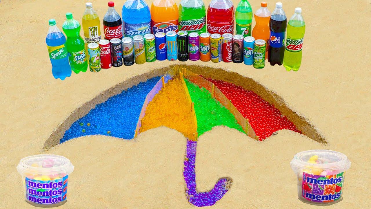Satisfying Video l How To Make Rainbow Umbrella in SQUID GAME with Orbeez, Mentos vs Big Coca Cola