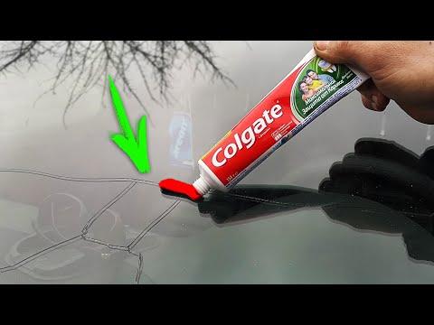 Устранение сколов и трещин на лобовом стекле автомобиля своими руками