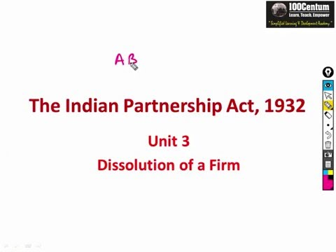 Indian Partnership Act 1932 - Mode of Dissolution of a Partnership Firm CA-CPT (In Hindi)