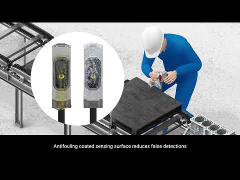 OMRON E3AS Photoelectric Sensors | Antifouling coated reduces false detection in Automotive Industry