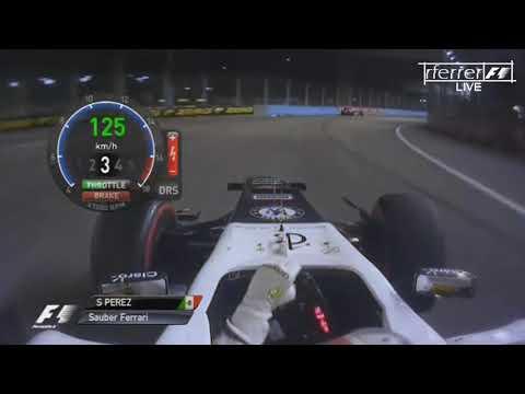 F1 Aggressive Drives Onboard | F1 2012 - R14 - Sergio Pérez onboard Singapore