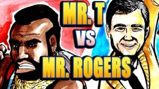 MR. T vs MR. ROGERS - Epic Rap Drawings of History!!!!