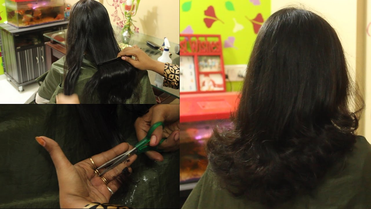 u cut hair style | hair cut tutorial | how to cut your hair at