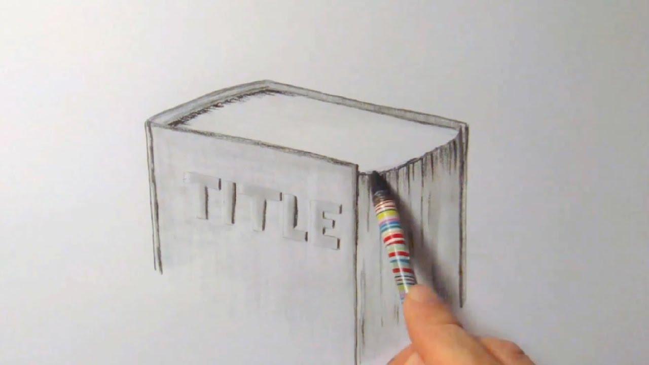 Bücherstapel gezeichnet  Buch, zeichnen im Zeitraffer (Book, drawing in fast motion)[HD ...