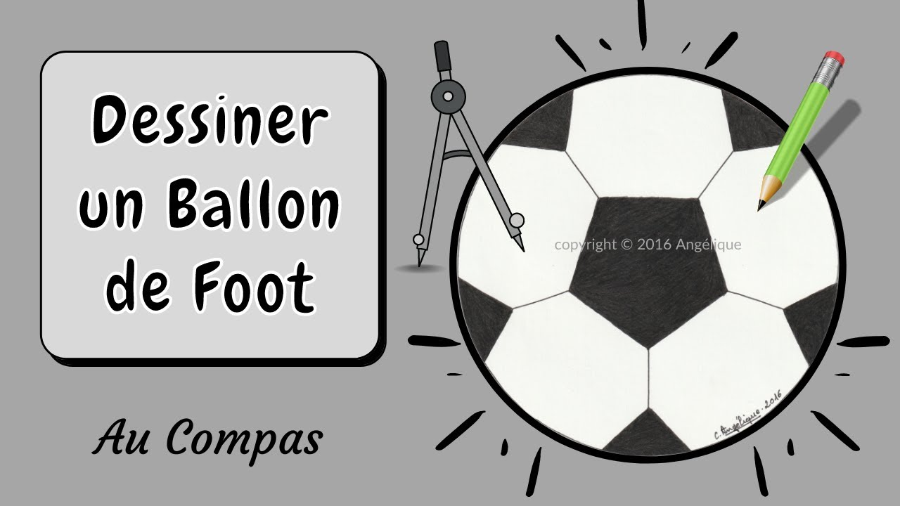 dessin au compas 15 le ballon de foot youtube. Black Bedroom Furniture Sets. Home Design Ideas