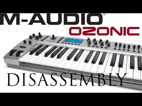 How to disassembly M-Audio Ozonic and unmount faders for cleaning or replacing