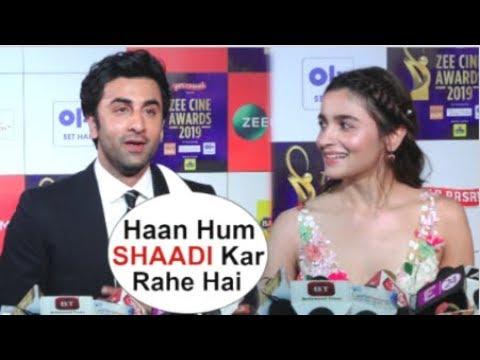 Ranbir Kapoor & Alia Bhatt CONFIRM Getting Married In December 2019 At Zee Cine Awards 2019