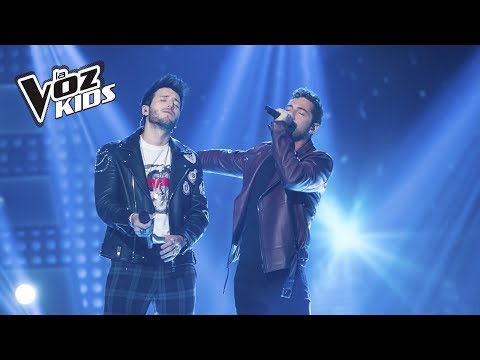 David Bisbal y Sebastián Yatra cantan A Partir de Hoy   La Voz Kids Colombia 2018