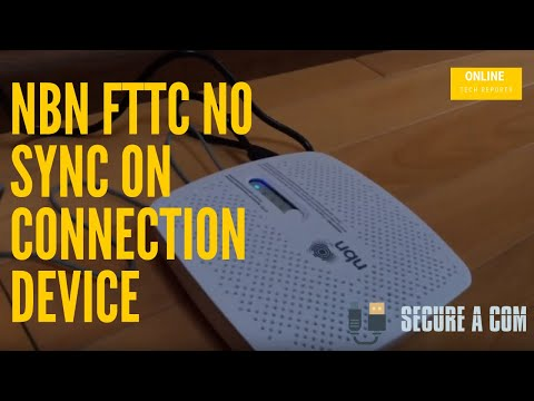 NBN FTTC No Sync on Connection Device. Network Fault