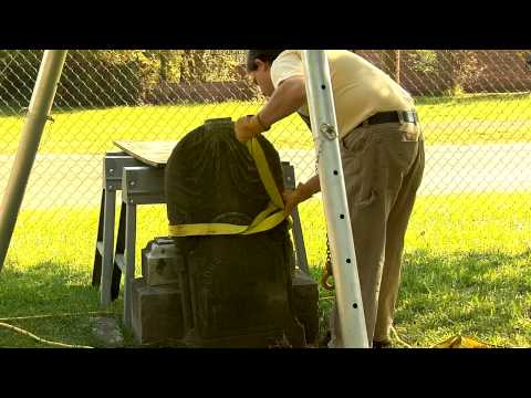 Lifting and Hoisting Stone Grave markers