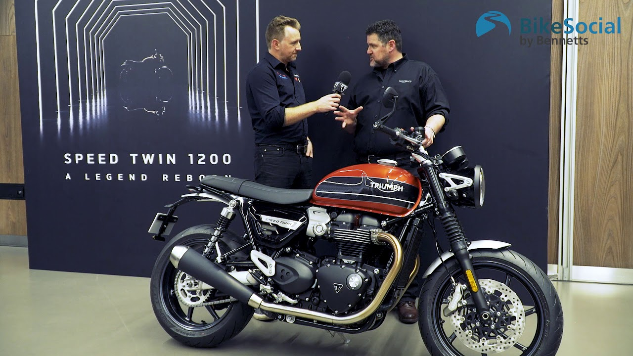 Triumph Speed Twin 2019 Introduction And Engine Start Youtube