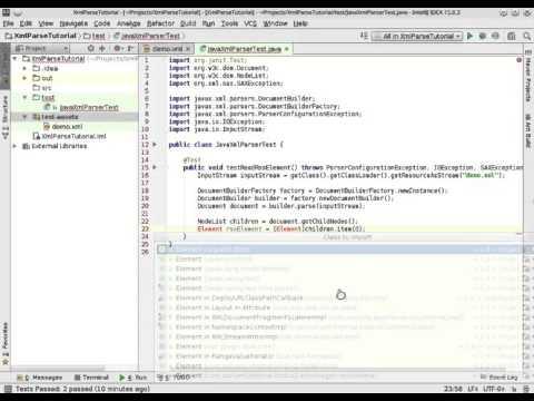 Parse XML using the standard Java DOM parser