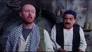 النمس يخيف أبو الحكم ويرعبه , مسلسل باب الحارة 4    الحلقة 4   مشهد1   مصطفى الخاني