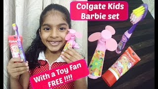 Colgate Kids set of  Barbie Toothbrush and Toothpaste (strawberry flavor) | Kids Happiness
