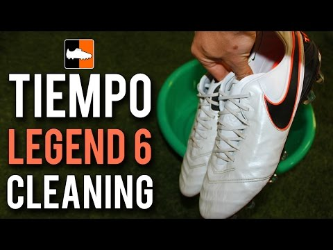 How to clean the Nike Tiempo Legend 6 Football Boots | White Leather Soccer Cleats