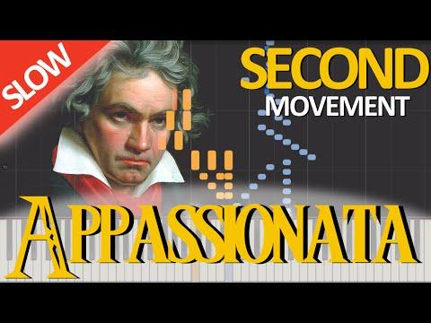 APPASSIONATA - Beethoven (Second Movement) [Piano Tutorial] [SLOW]