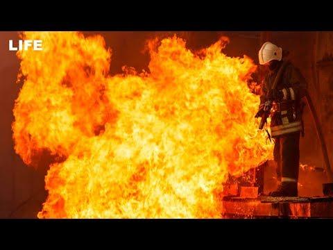 Сильный пожар на лакокрасочном заводе