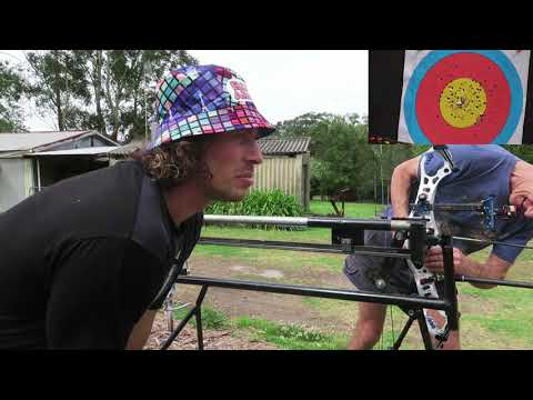 bow shoooting machine 50 metre group test