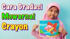 Cara Mewarnai Gambar Ikan Belajar Mewarnai Untuk Anak Dengan Crayon