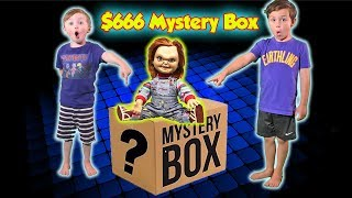 Gambar cover $666 SCARY Ebay Mystery Box Unboxing Challenge! Don't Open It   DavidsTV