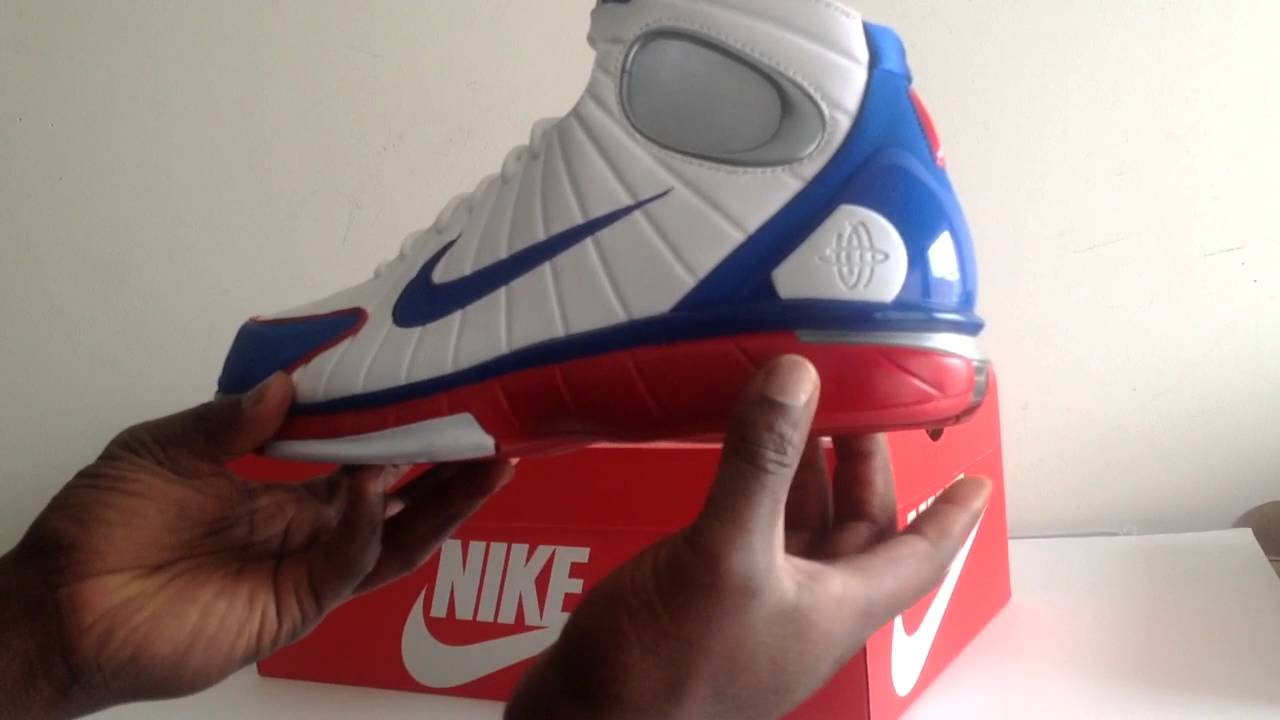 9bbf60716f3e Nike Air Zoom Huarache 2k4 All Star Kobe USA Red White Blue - YouTube