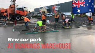 Concreting Bunnings warehouse car park