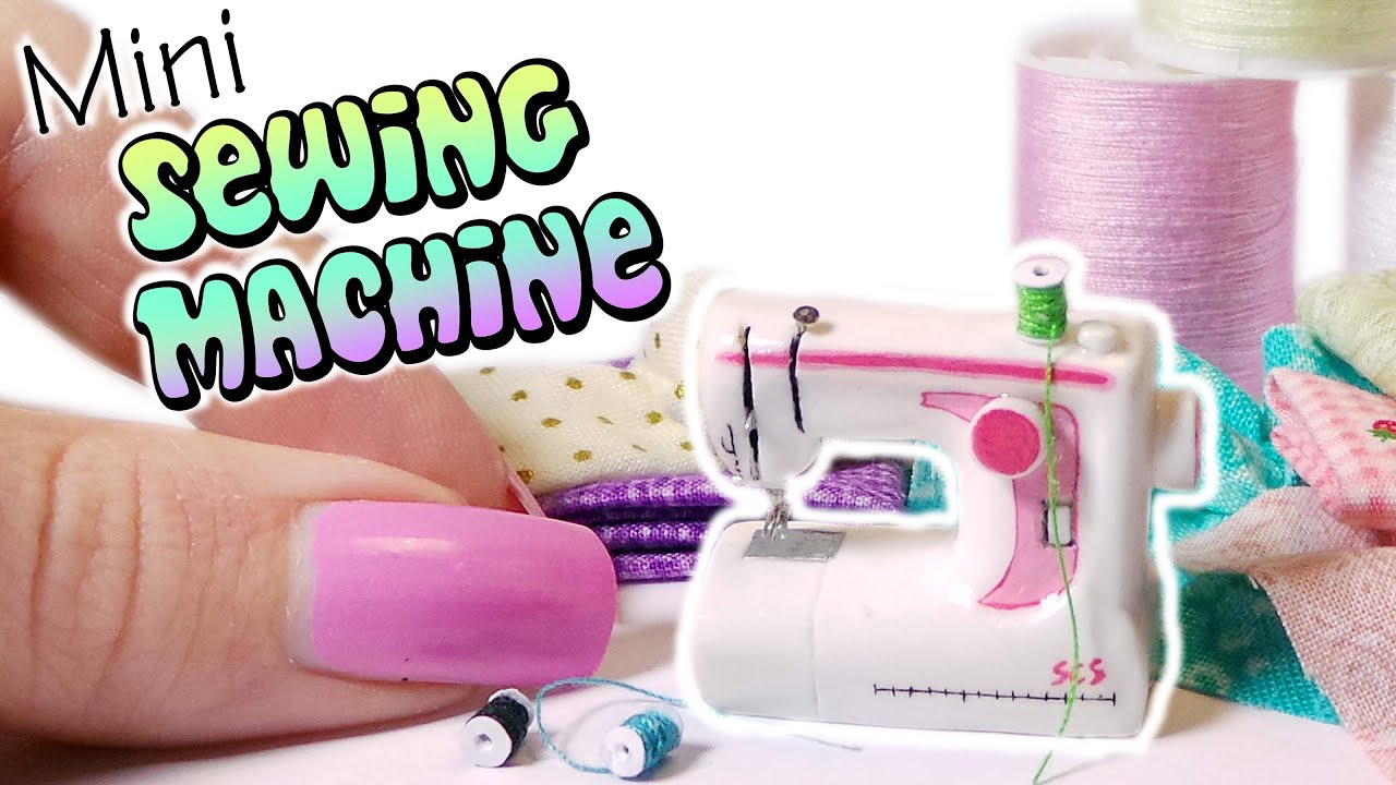 miniature sewing machine - dollhouse polymer clay tutorial - youtube