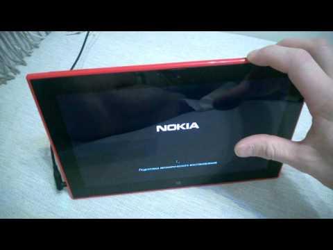 Nokia Lumia 2520 Процесс восстановления с флешки