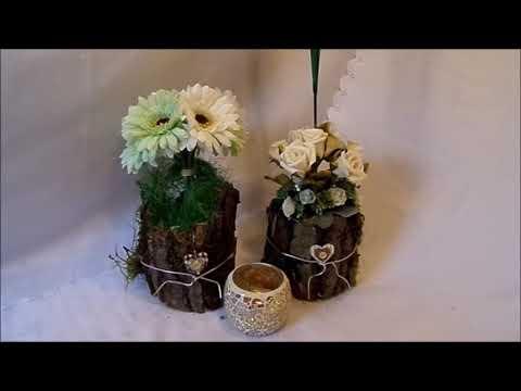 diy blumen werkstatt 2 edle tisch deko s mit rosen selber. Black Bedroom Furniture Sets. Home Design Ideas