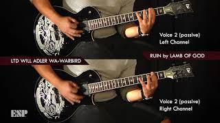 esp guitars ken susi unearth plays will adler lamb of god