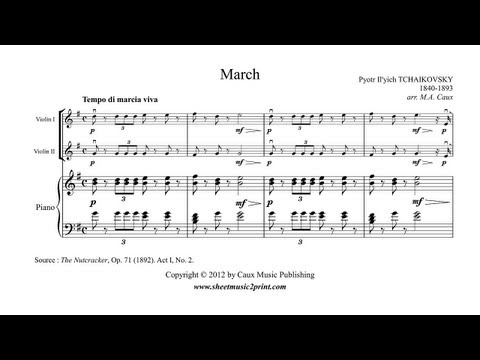 The Nutcracker : March - Violin Duet