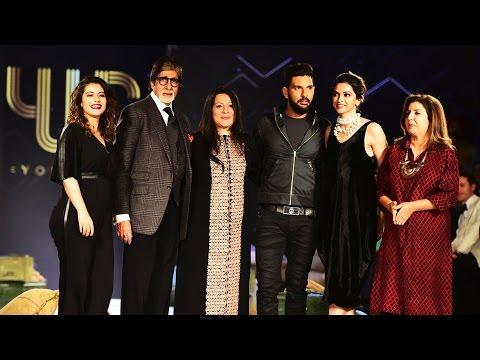 Deepika, Kajol, Amitabh Bachchan's RAMP WALK At Yuvraj Singh's YOUWECAN Fashion Launch