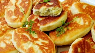 Вкусные дрожжевые пирожки с картошкой и укропом / Рецепт дрожжевых пирожков