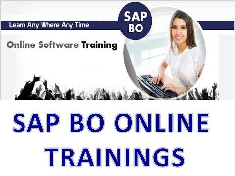 SAP BOBJ 4.1 Demo Session (SAP BO Online Training Demo Session)