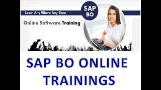 SAP Business Objects Online Training - SAP BO 4.2 Free Demo