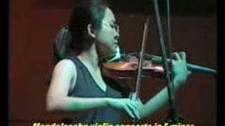 Mendelssohn violin concerto. Leow Ruen Shan.  Malaysia