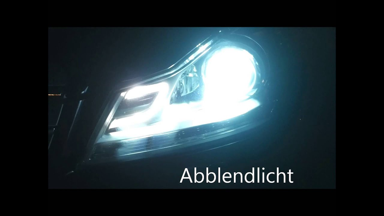 Original mercedes led bi xenon facelift front scheinwerfer for Mercedes benz intelligent light system c class