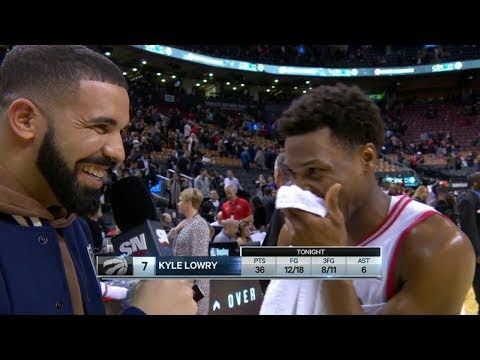 Raptors Post-Game: Drake Interviews Kyle Lowry - November 29, 2017