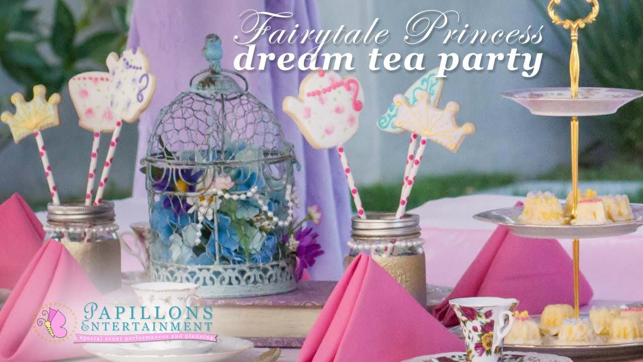Princess Tea Party Ideas With Princess Characters Rapunzel