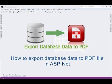 How to export database data to PDF file in ASP.NET
