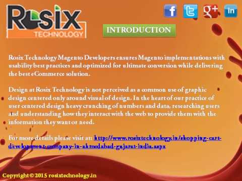 Magento Development Company India | Shopping Cart Development | rosixtechnology.in