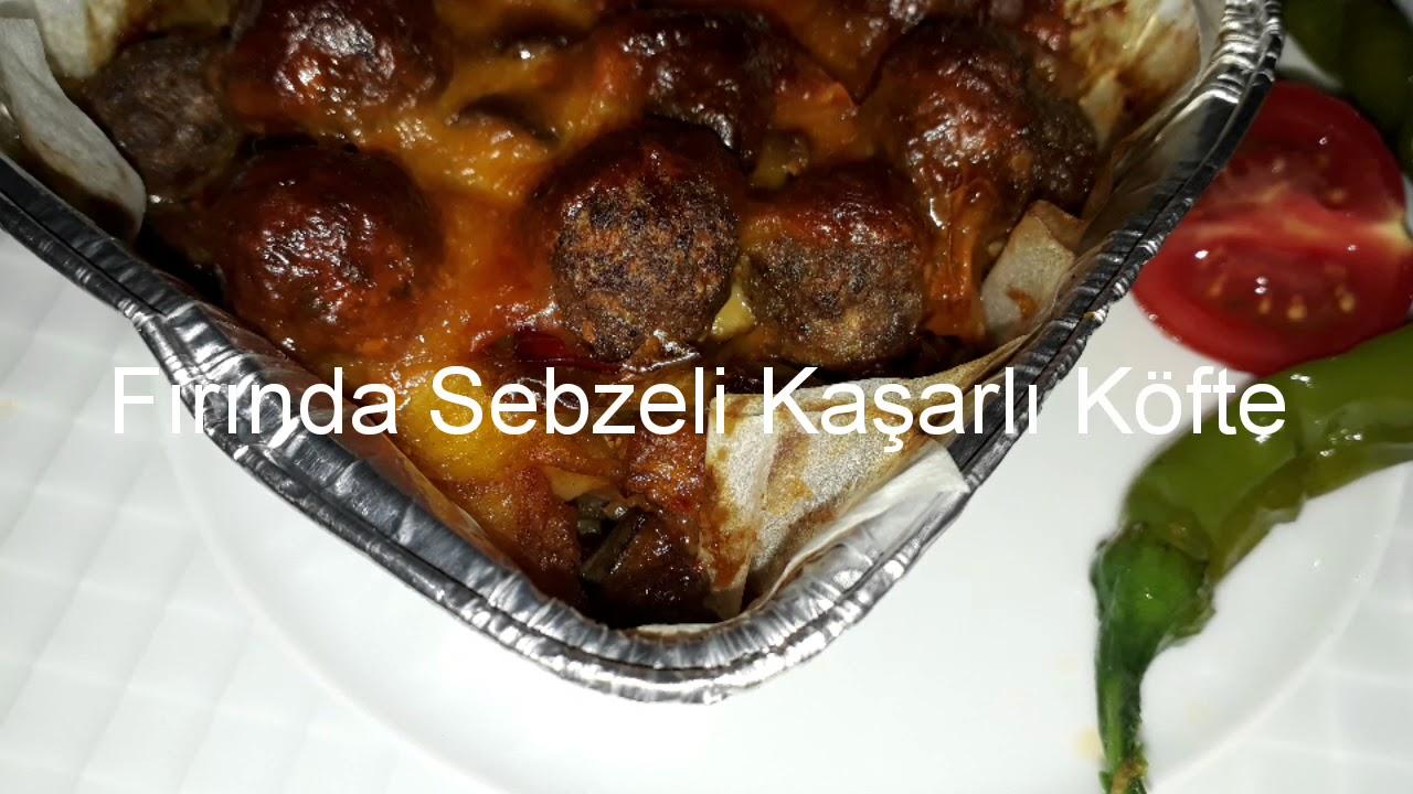 Fırında Sebzeli Kaşarlı Köfte / çok kolay tarifler