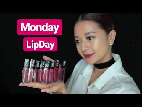 8-warna-terbaru-make-over-intense-matte-lip-cream-||-monday-lipday-semi-mukbang