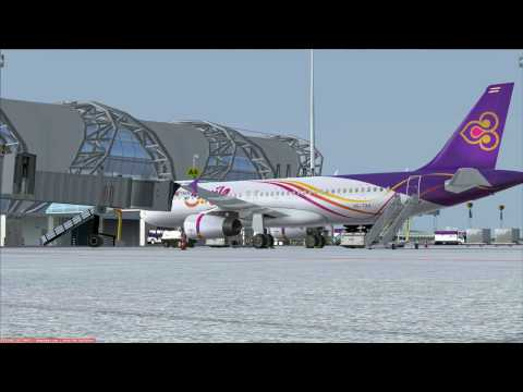 Flight from Bangkok to Koh Samui    Airbus A32O Thai Smile