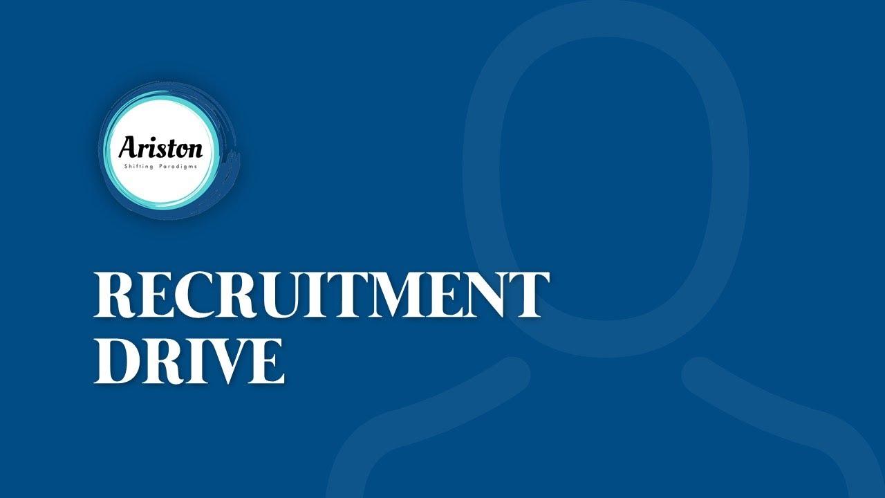 Ariston Recruitment Drive Sep 20/21