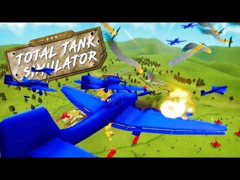 ANTI AIR CANNONS TAKING DOWN MASSIVE SWARM OF PLANES! - Total Tank Simulator Demo 4 Gameplay