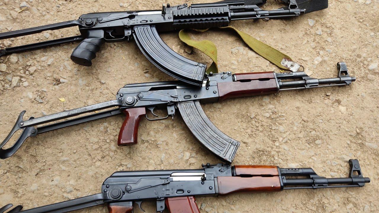Ak47 Model 56 Kalashnikov 2 And 1Egypt Made original Kalashnikov Test Comparison
