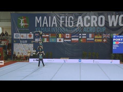 Ginástica: Taça Mundo Acrobática Maia 2018