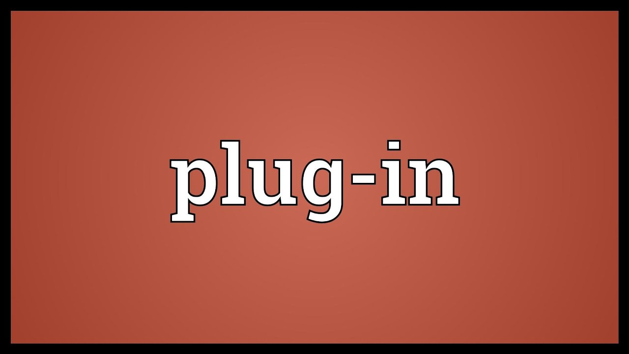 Plug-in Meaning